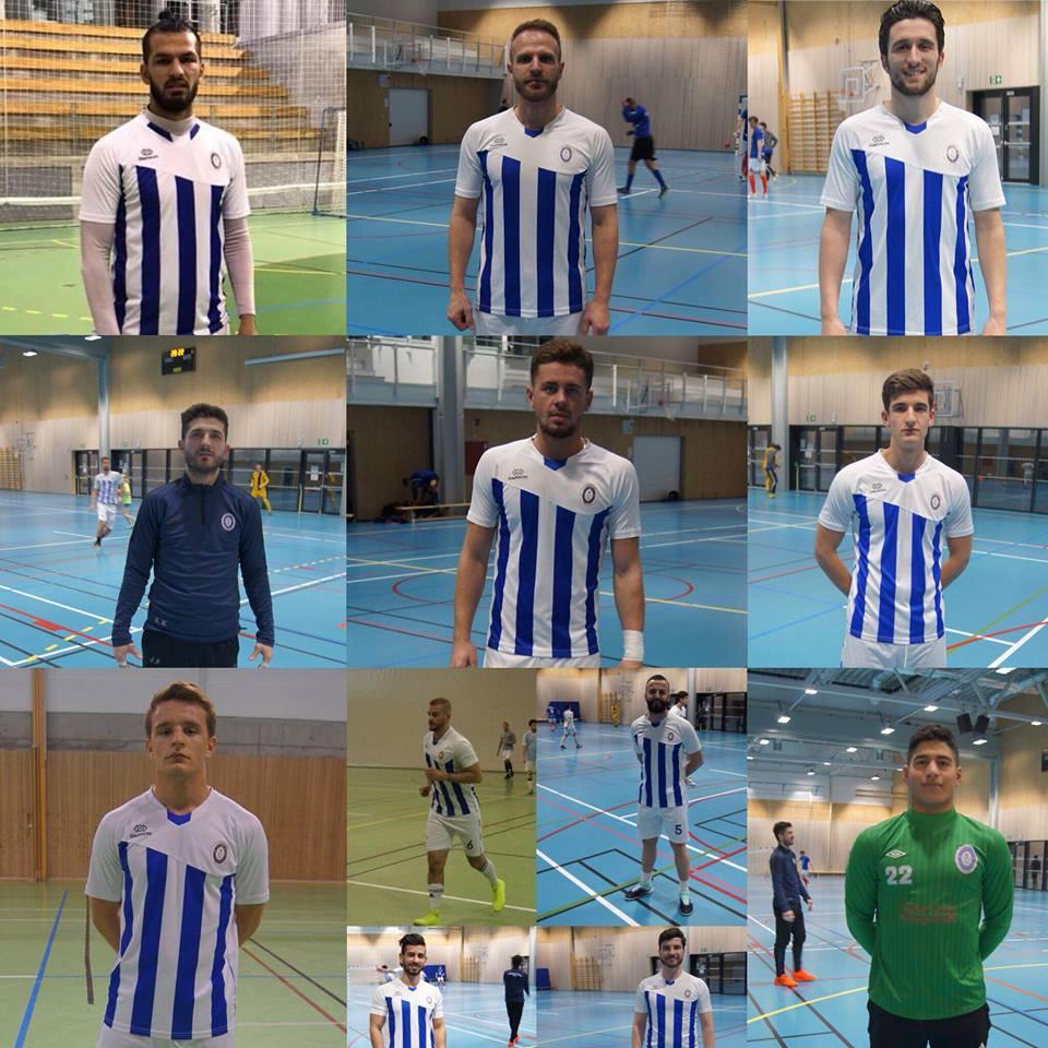 Presentasjon av spillere for playoff til eliteserien.
